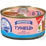 Тунец Аквамарин филе в собственном соку 185г - купить, цены на Фуршет - фото 5