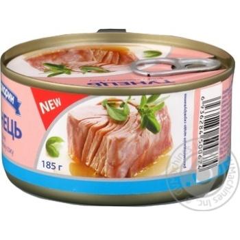 Тунец Аквамарин филе в собственном соку 185г - купить, цены на Фуршет - фото 2