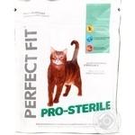 Корм сухий для стерилізованих котів Perfect Fit з курятиною 280г