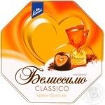Конфеты Конти Белиссимо Classico шоколадные с начинкой крем-брюле 255г картонная коробка Россия