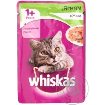 Whiskas With Lamb Meat In Jelly For Cats Food - buy, prices for Furshet - image 3