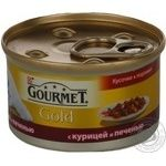 Gourmet Gold With Chicken And Liver Canned For Cats Food