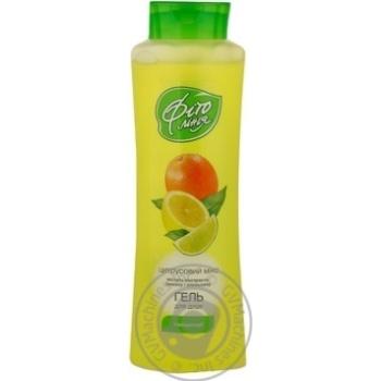 Гель для душу Фіто Лінія Тонізуючий екстракт лимону та апельсину 500мл