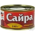 Fish saury Ekvator canned 240g can