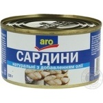 Fish sardines Aro №5 in oil 220g can