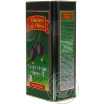 Масло Маэстро де Олива оливковое нерафинированное экстра вирджин первого холодного отжима 1000мл - купить, цены на Novus - фото 3