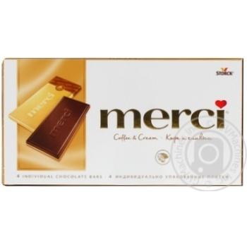 Chocolate milky Merci with coffee 100g