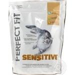 Сухой корм Perfect Fit для кошек с чувствительным пищеварением куриный 750г