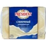Сыр Президент Сливочный плавленый 45% 200г
