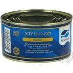Косерва рыбная Аквамир скумбрия стерилизованная натуральная с добавлением масла 230г - купить, цены на Novus - фото 4