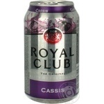 Beverage Royal club currant non-alcoholic 330ml can
