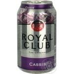 Напиток Royal Club Черная смородина б/алк газ 0,33л