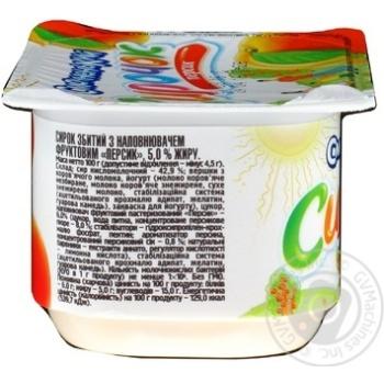 Творожок Смачненький персиковый 5% 100г - купить, цены на Фуршет - фото 2