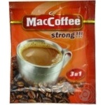 Instant coffee drink MacCofee Strong 3in1 with coffee extract stick sachet 18g