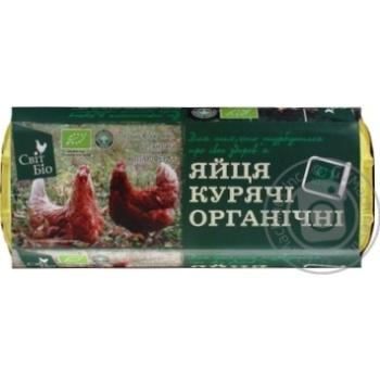 Яйца куриные Мир Био органические С1 10шт - купить, цены на Novus - фото 1