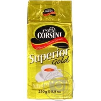 Кофе молотый Corsini Superior Gold жареный натур 250г