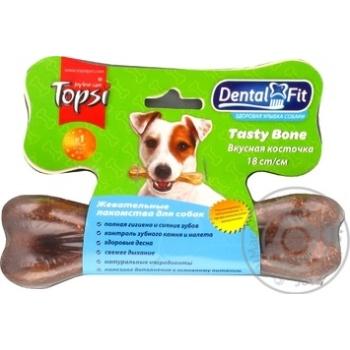 Лакомство Topsi Вкусная косточка для собак 18см