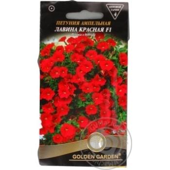 Насіння Квіти Петунія ампельна Лавина червона F1Golden Garden 10шт - купить, цены на Novus - фото 1