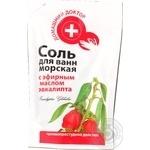 Соль Домашний доктор с эфирным маслом для ванн 500г