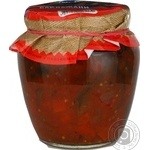 Vegetables eggplant Premiya canned 520g glass jar