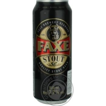 Пиво Faxe Stout темное фильтрованное 0,5л
