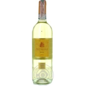 Wine Sizarini white dry 11.5% 750ml glass bottle Italy