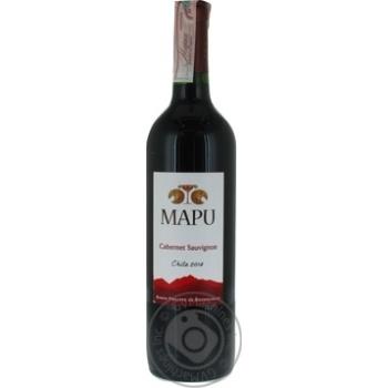 Вино Mapu Cabernet Sauvignon красное сухое 13% 0,75л - купить, цены на УльтраМаркет - фото 1