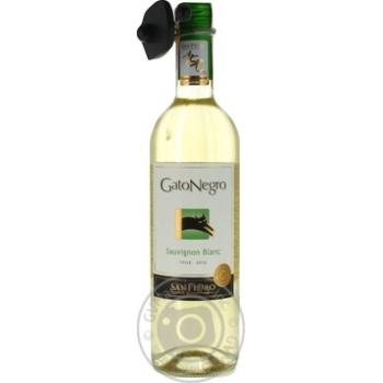 Wine sauvignon-blan Gato negro white dry 14.5% 2010year 750ml glass bottle Chili