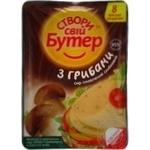 Сыр Комо Створы свий Бутэр плавленый ломтевой с грибами нарезаный 8 ломтиков 45% 150г