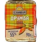 Сир плавлений Славія Дружба 55% 90г