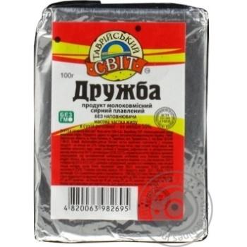 Продукт сырный Таврийский сыр Дружба плавленый без наполнителя 55% 100г