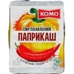 Сыр плавленный Комо Паприкаш с болгар перцем и чили 90г