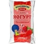 Йогурт Волошкове поле клубничный 1.5% 950г