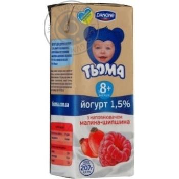 Йогурт 1,5% малина-шипшина Тьома tba slim 207г