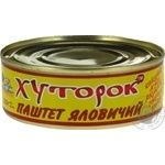 Паштет Хуторок говяжий 250г Украина