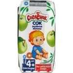 Reconstituted clarified pasteurized sugar-free juice Spelenok green apple for 3+ months babies tetra pak 200ml Russia