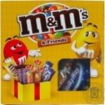Набір драже батончиків та печива M&M's & Friends з арахісом 201г