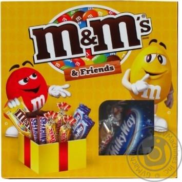 Набор драже батончиков и печенья M&M's & Friends с арахисом 201г