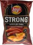 Чипсы Lay's Strong со вкусом зажигательные колбаск 120г