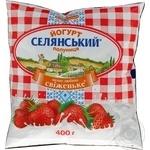Йогурт Селянский Клубника питьевой 2,5% 400г