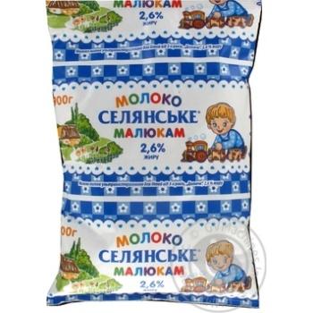 Молоко Селянское Малышам ультрапастеризованное 2.6% 900г