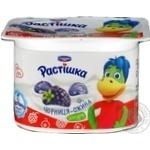 Йогурт 2,0% з фруктовим наповнювачем чорниця-ожина Растишка 115г