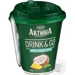 Біфідойогурт 1,5% кокос-ананам-м'ята Активіа стакан 315г - купить, цены на Novus - фото 2
