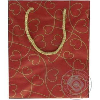 Пакет подарунковий крафт №3 150*230*80 - купить, цены на Novus - фото 2