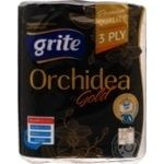 Полотенце бумажное Grite Orchidea Gold 2шт/уп
