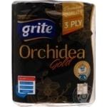 Рушники паперові Grite Orchidea Gold 2 рул.