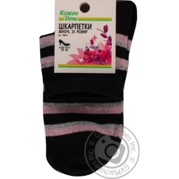 Носки Каждый День женские черная полоса 25р - купить, цены на Ашан - фото 3