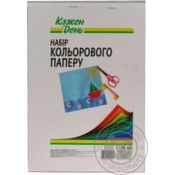 Kozhen Den Colored Paper 16 Sheets - buy, prices for Auchan - photo 2