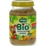 Ovko for children from 4 months with apricot-banana puree 190g