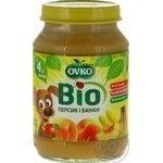 Ovko for children from 4 months with peach-banana puree 190g